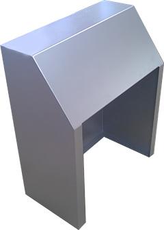 aluminum console. Black Bedroom Furniture Sets. Home Design Ideas
