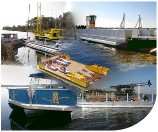 Commercial Pontoon Work, Tour and Barges -  Build your own from kits